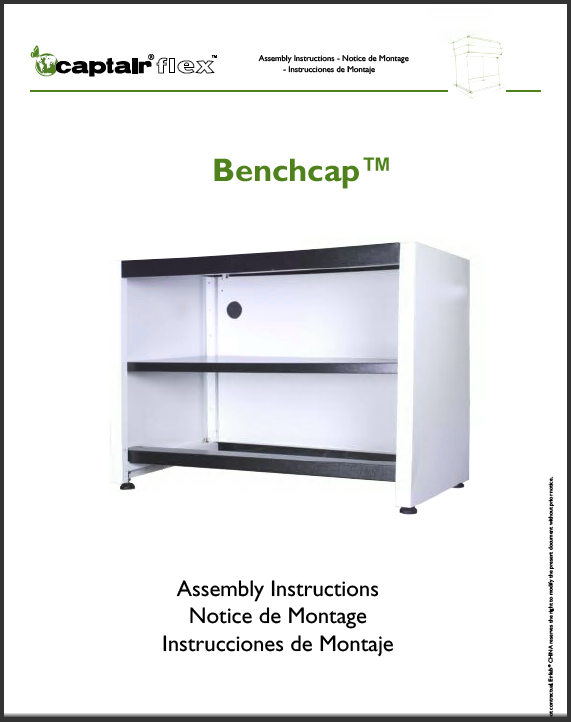 Assembly benchcap