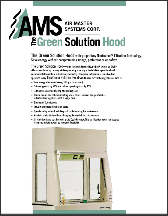 AMS Brochure - Green Solution Hood