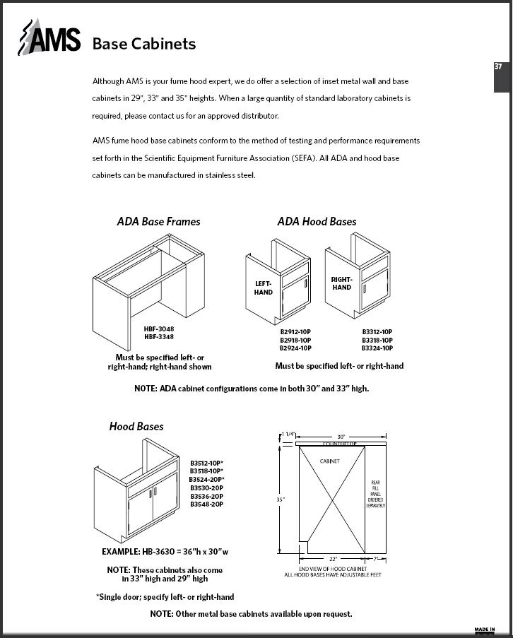 AMS® Base Cabinets