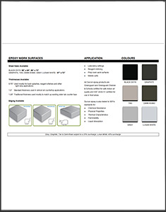 Epoxy Work Surfaces