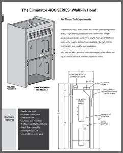 Eliminator 400 SERIES Walk-In Hood